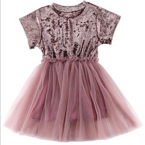 Crushed Velvet Baby Girls Dress 1-2Years